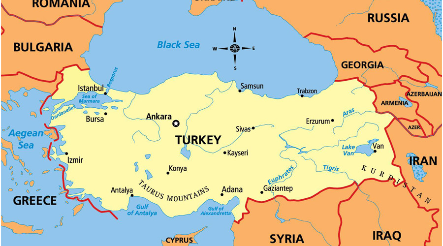 موقعیت جغرافیایی ترکیه